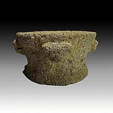Pre-columbian Stone Pot Holder