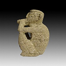 Pre-columbian Costa Rican Smoking Sukia Figure