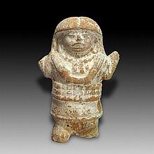 Pre-columbian Veracruz Nopiloa Rattle Figure