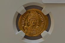 Byzantine Empire, Justinian I (527-565 AD) Gold Solidus.