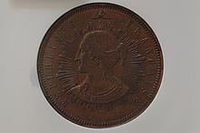 France. Essai 1848 10 Centimes, Maz-1351 Copper.