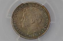 Puerto Rico, 1895 20 Centavos
