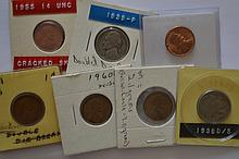 A compelling cent and nickel Error coin assortment