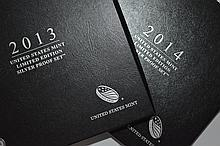 A pair of U.S. Mint Limited Edition Silver Proof Sets