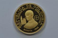 Colombia. 1968 Gold 200 Peso
