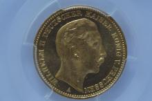 German States, Prussia. 1895-A 20 Mark Gold, PCGS MS63
