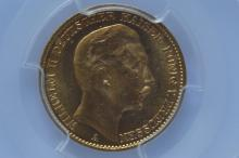 German States, Prussia. 1912-A 20 Mark Gold, PCGS MS64