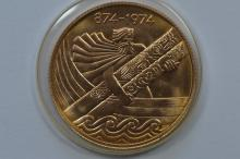 Iceland. (1974) Gold 10,000 Kronur