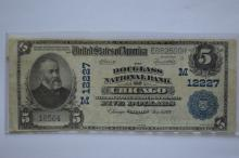 $5.00 Series of 1902 Plain Back National Bank Note, Fr-608, Charter #12227.