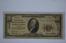 $10.00 Series of 1929 Type II National Bank Note, Fr-1801-2, Charter #12449.