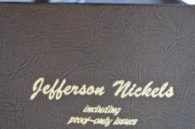 A complete set of Jefferson Nickels