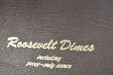 A virtually full set of Roosevelt Dimes