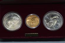 U.S. Commemorative 1984 Olympic 3-pc Uncirculated Set