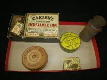 Puzzle Box, Pill Boxes, Ink, Magnifier, Stamp Box