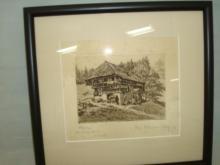 Paul Follarman Colbury House Print 20/100 1926