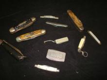 Lot of 10 Pocket Knives