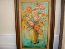 H B Plattern Flower Framed Painting