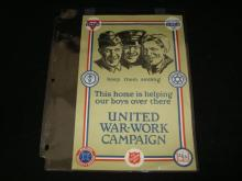 United War-Work Campaign WWII Poster YMCA