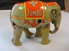 Jumbo Elephant Tin Litho Wind-up US Zone Germany