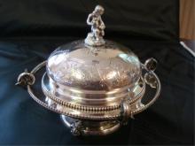 Tiffany & Co English Sterling Silver Bowl & Lid