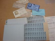 WWII Ration Stamp Book & Identification