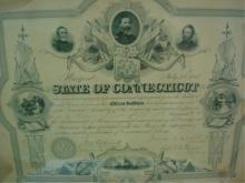 Certificate of Appreciation Civil War St of Conn