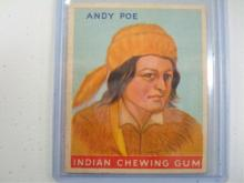 Goudey Indian Gum Card Andy Poe #101