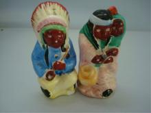 American Indians Couple Salt & Pepper Set Japan