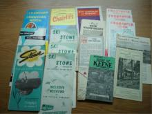 Lot of Brochures & Maps around Keene NH, Stowe
