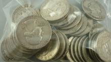 40 Washington Quarters 1964 & Prior $10 Face