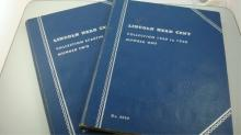 2 Book Lincoln Cents 1909-1940 & 1940-