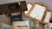 Miniature Doll House Furniture - Sewing Machine