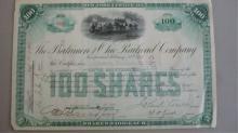 100 Shares The Baltimore & Ohio Railroad Company