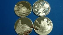 4 Post Master of America 1 OZ Sterling Round Coins