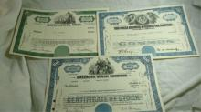 5 Old Stock Certificate 1946-1976