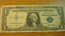 STAR One Dollar Silver Certificate 1957