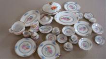 Miniature Doll House Serving Set - Platters, Bowls