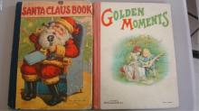 2 Late 1800's Children's Books Santa & Moments