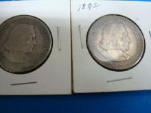 2 Columbian Commemoratives Half Dollars