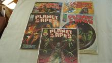 5 Planet of the Apes Curtis Comic Books