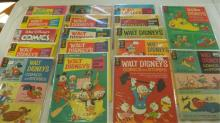 17 Walt Disney Comics and Stories Books 12-20 cent