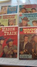 6 Wagon Train Comic Books 1950-1960