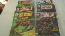 6 Doc Savage Curtis Comic Books