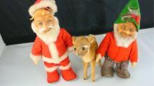 Steiff Vintage Santa, Elf, Reindeer