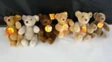 6 Steiff Minature Teddy Bears