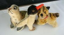 Steiff Penguin, Seal, Cat