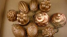 10 Small Copper Molds 2 from Italy
