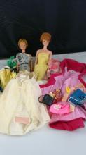 2 1950-1960 MIDGE Dolls and Barbie Clothes