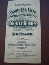 1906 Birds Eye View Trolley Routes of New England