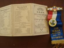 1882 Odd Fellow's District 25 List, Grange 33 Ribb